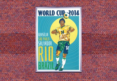 Preview for Create a Retro World Cup Poster in Adobe InDesign
