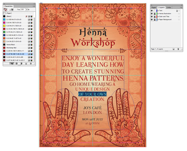 Design A Moroccan Themed Poster In Adobe Indesign