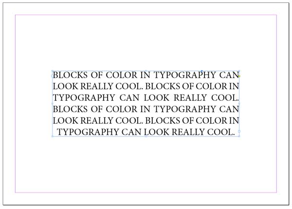 Minion pro text frame