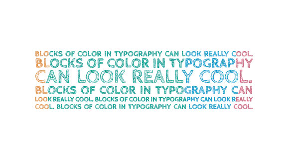 Final typography - block color