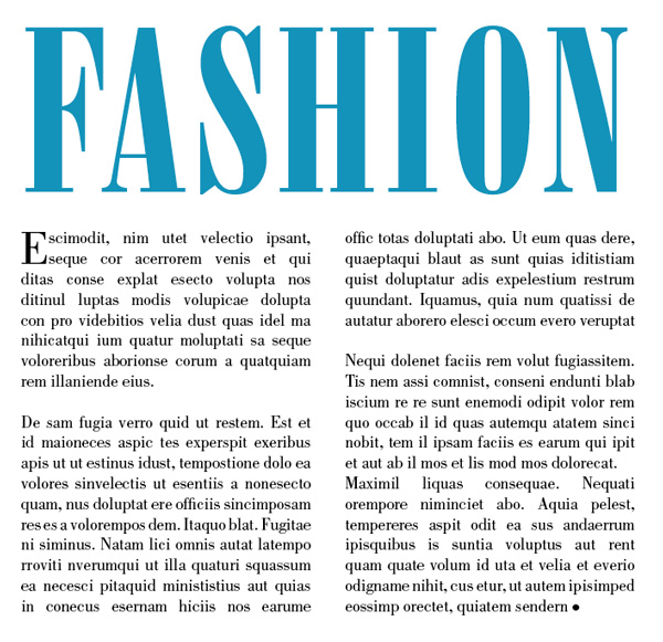 fashion magazine typography
