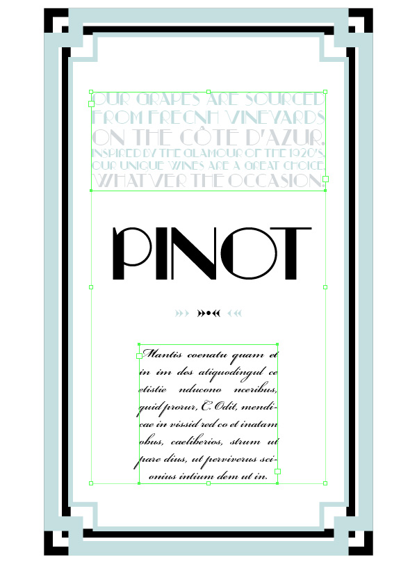 typography wine label
