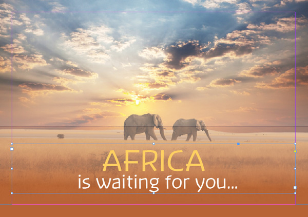 african travel brochure design