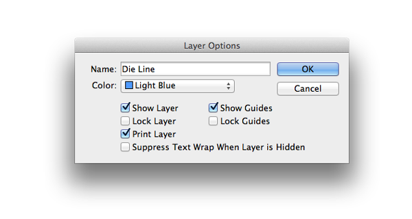 layer options window