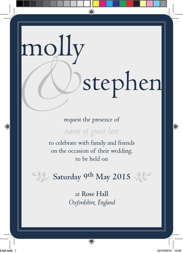 Create beautiful wedding invitations using adobe indesign and typekit to create a photoshop mock up of your invitation place a jpeg version of the invitation in photoshop layered on top of a rustic wooden texture stopboris Choice Image