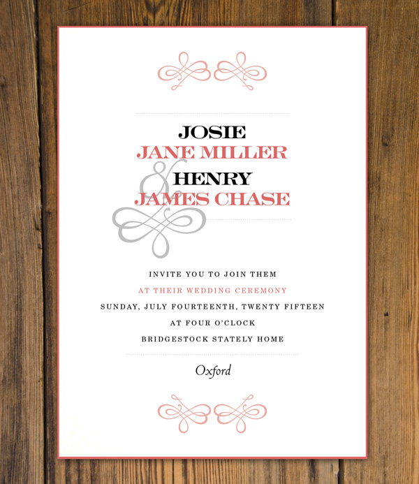 Create beautiful wedding invitations using adobe indesign and typekit elegant invitation stopboris Choice Image
