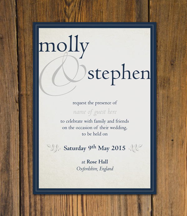 Create beautiful wedding invitations using adobe indesign and typekit final invitation stopboris Gallery