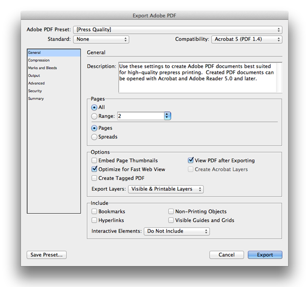 export to Adobe PDF