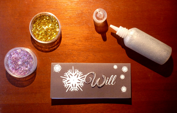 applying glitter after printing