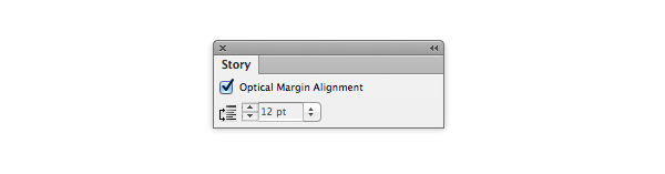 optical margin alignment