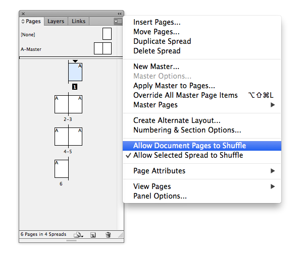 document pages shuffle