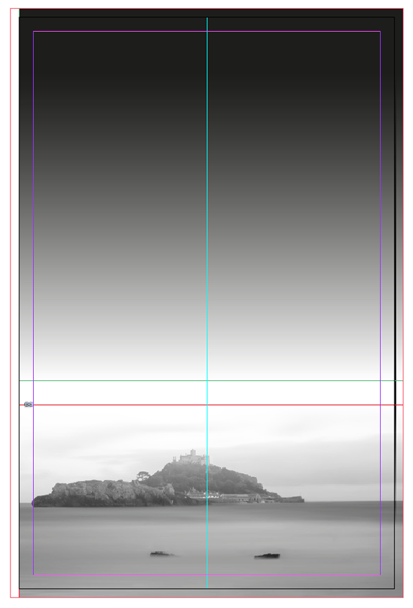 gradient applied to image frame