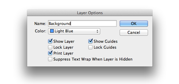 layer options