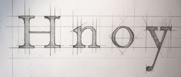 drawing caslon