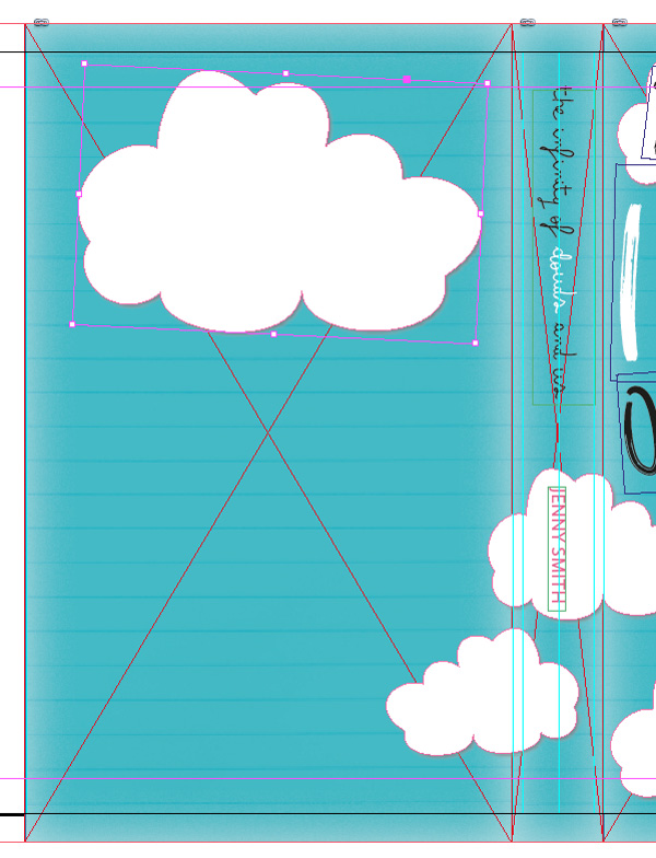 cloud vector on back cover