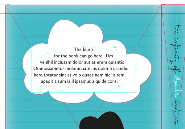 text frame for blurb