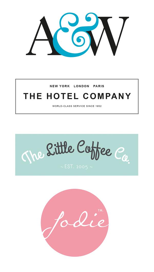 Tipografía en Acción: Diseño Simple & Efectivo Tipo Logotipos