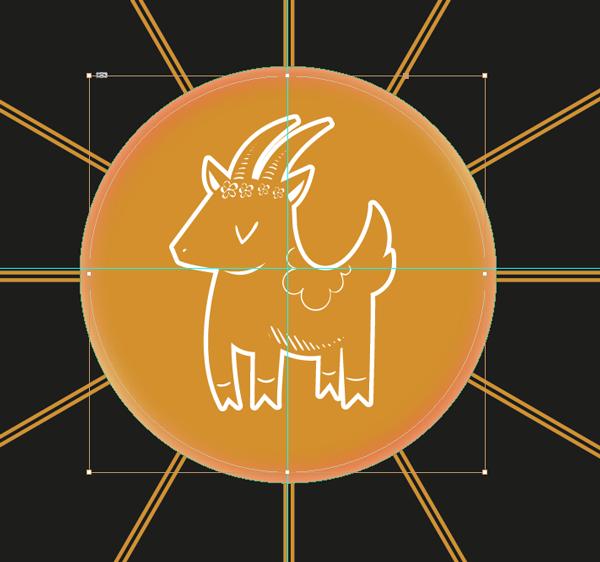 gold sheep image