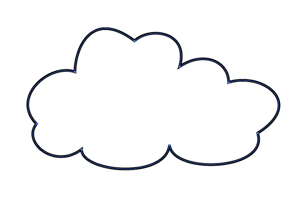 cloud vector shape