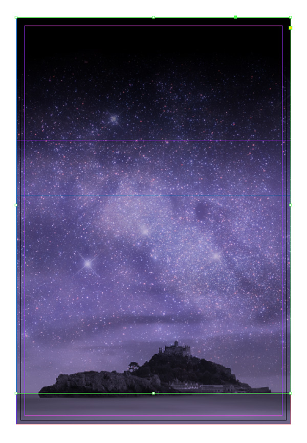 gradient applied to starry image