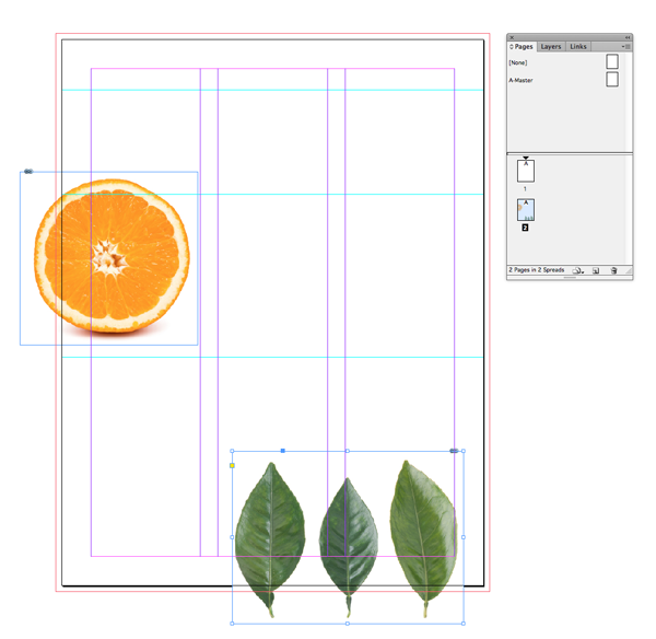 layout with leaves