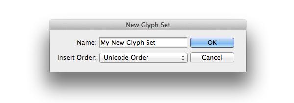 my new glyph set