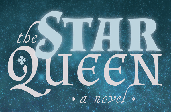 star queen text with glow