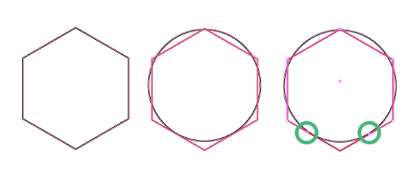 polygon and circle shapes