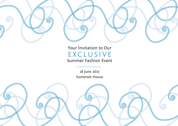 fashion invitation