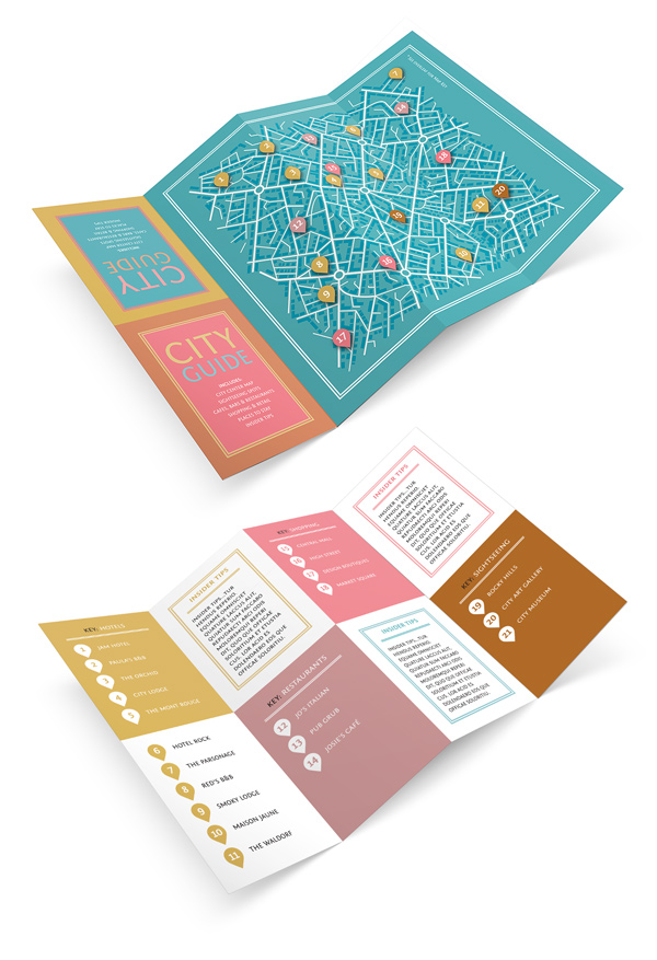 Design A Fold Out City Guide In Adobe Indesign