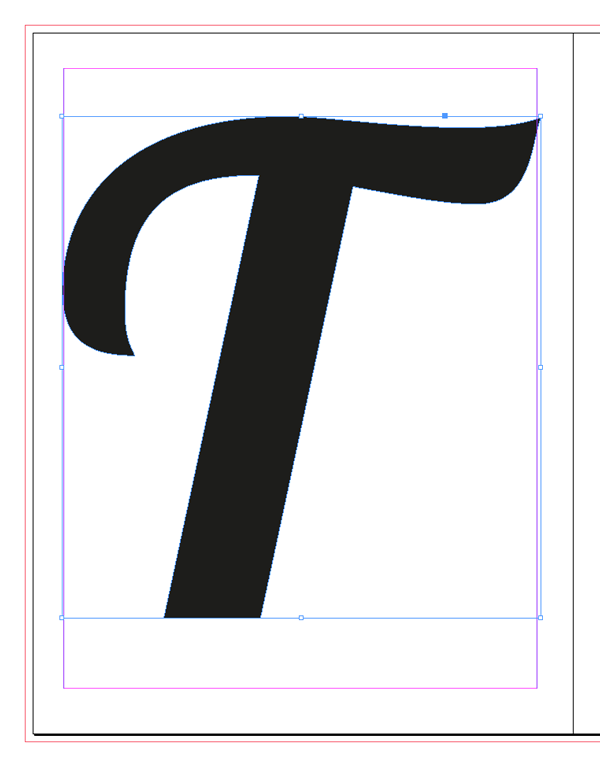 vectorized letter