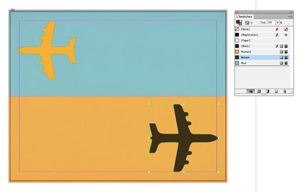 brown plane