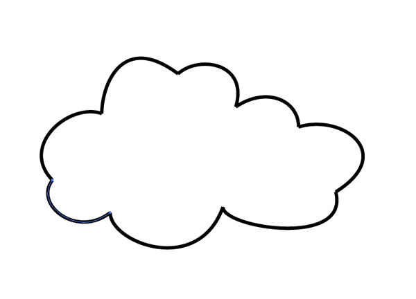 complete cloud shape