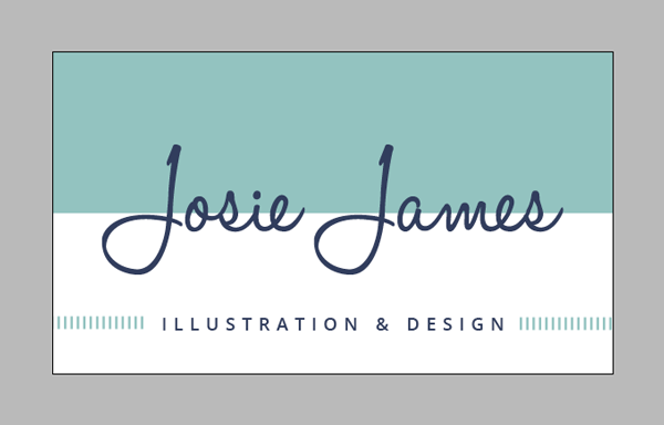 business card in mint