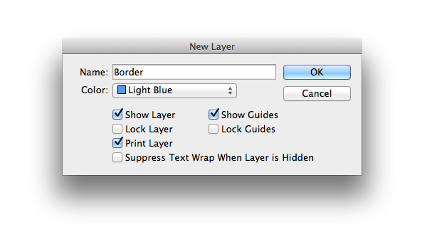 new layer - border