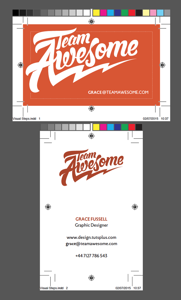 Create a Branded Business Card for Team Awesome!