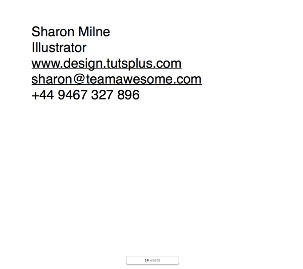 sharon word document