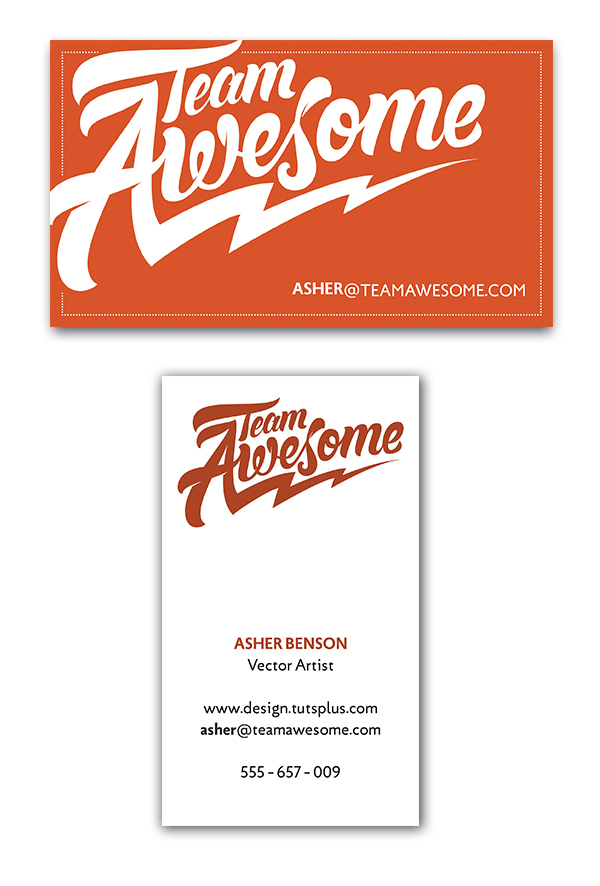 ashers business card