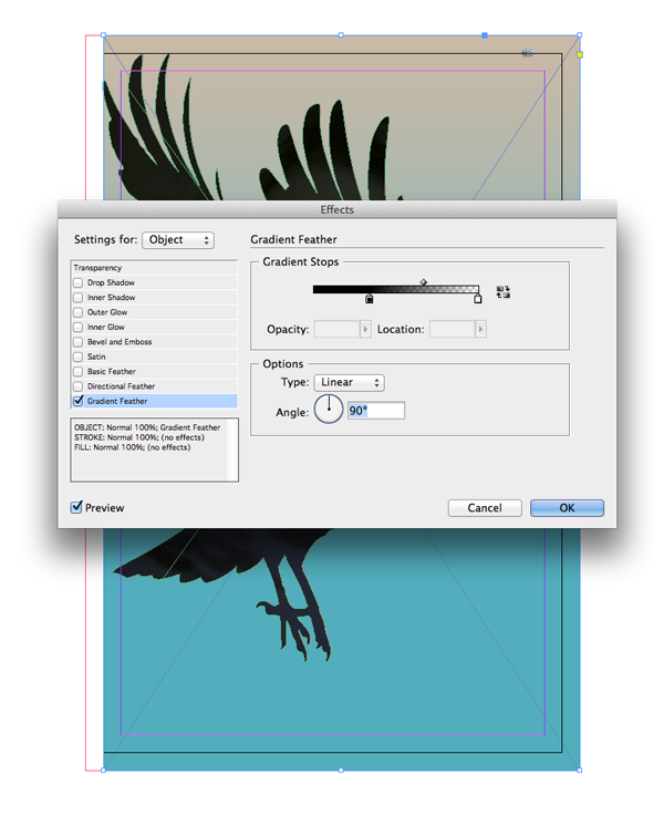 gradient feather