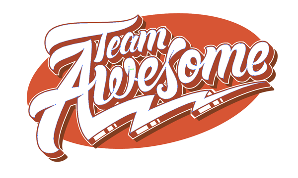 team awesome original logo