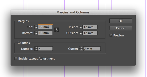 margins and columns
