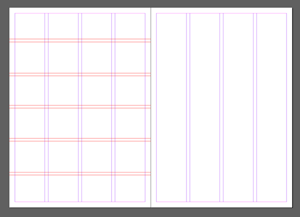 pasted grid lines