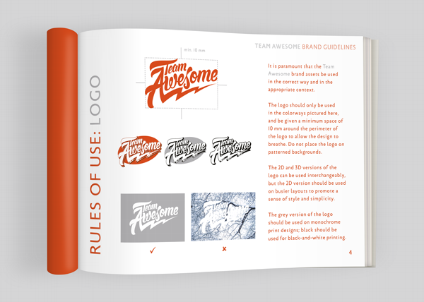 team awesome brand guidelines