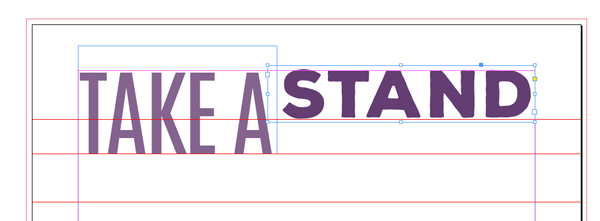 stand slab text