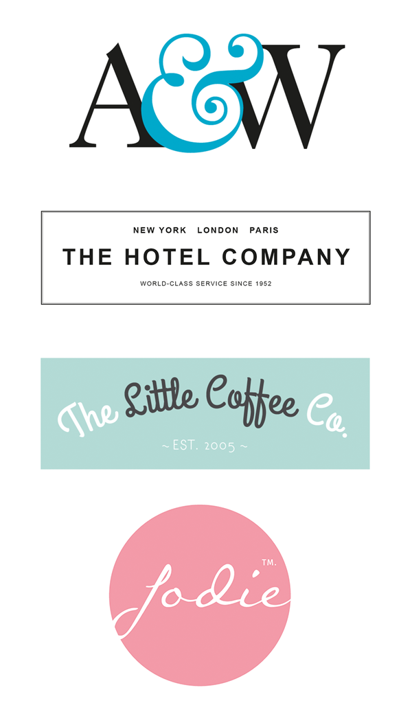 indesign type logos