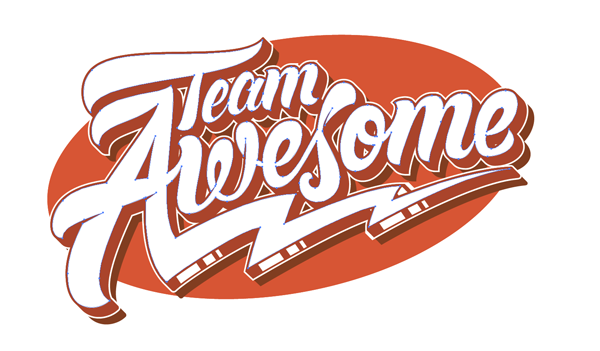 Team Awesome logo created in Adobe Illustrator