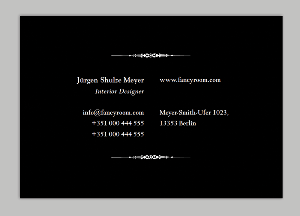 How to customise a business card template in adobe indesign flush to center text fbccfo Gallery