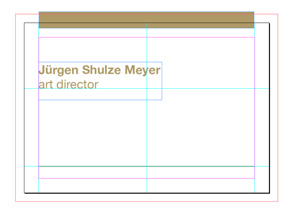 How To Customise A Business Card Template In Adobe InDesign - Business card template indesign