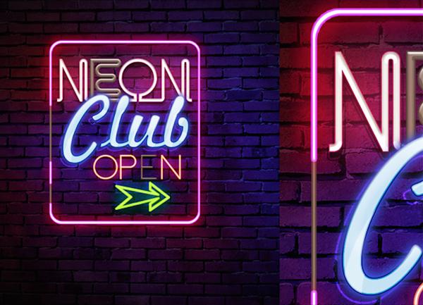 neon club sign