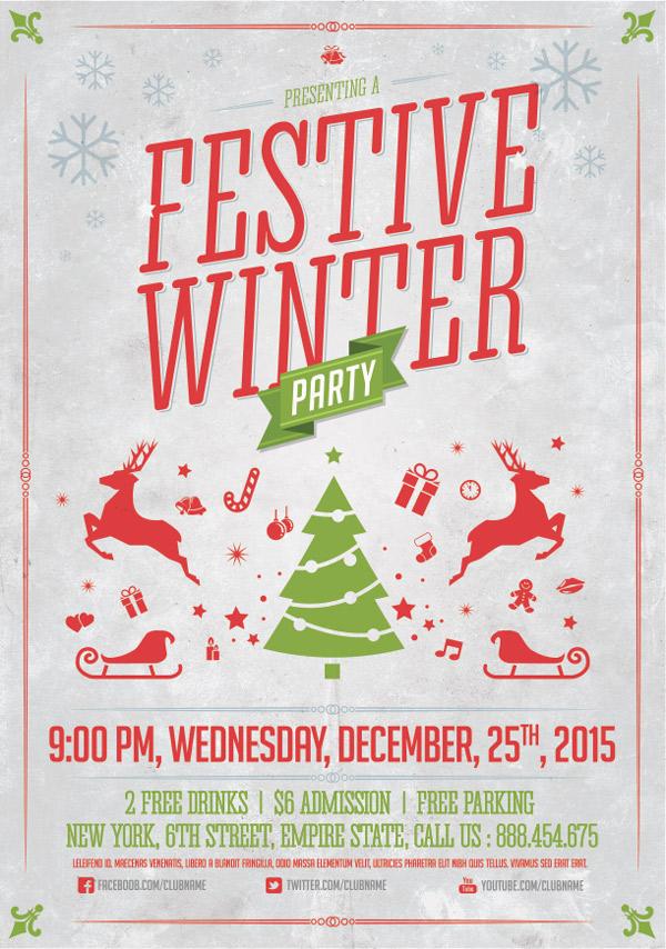festive flyer design